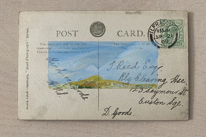 vintage postcard abstract landscape by artist Michael Statham
