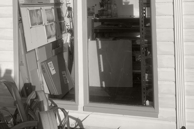 inside artist Michael statham's studio