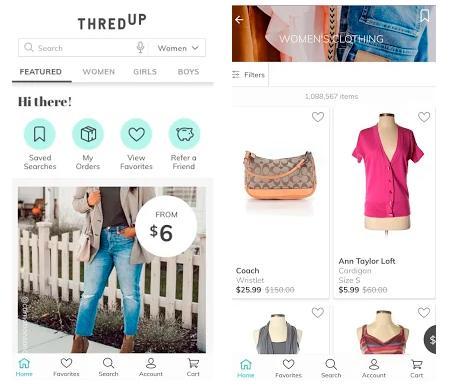 ThredUP se ha convetido en una de las apps para vender ropa de segunda mano más conocidas en Estados Unidos.