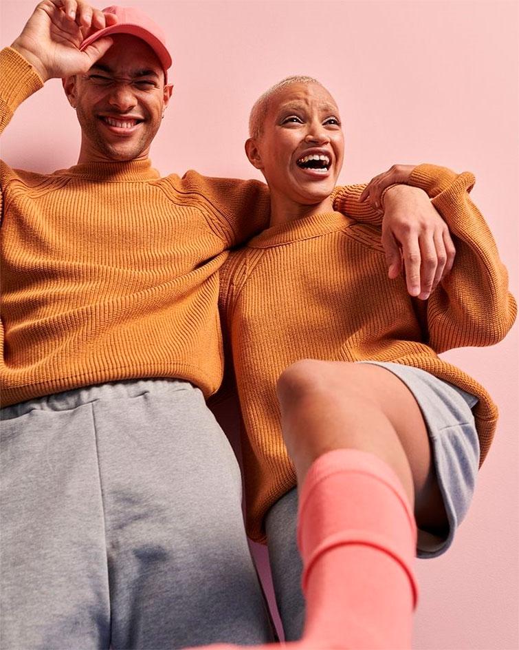 photo modèles homme et femme portant des vêtements de la marque Le Slip Français