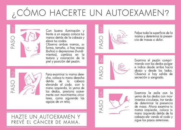 Como se hace el examen del seno