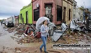 Iglesias uruguayas infunden esperanza a afectados por tornado