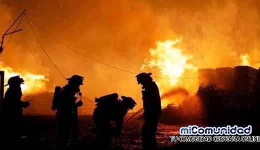 Templo evangélico se salva milagrosamente de incendios en Chile