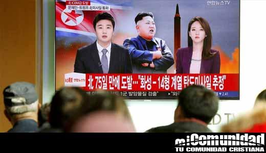 Corea del Norte desafía a EU con un misil y Trump le responde