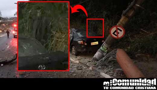 Video: Demonio de muerte aparece en un costado de un accidente fatal