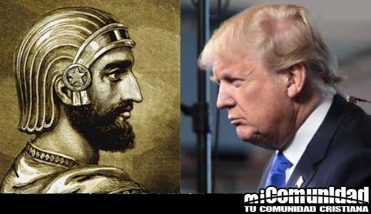Sanedrín y movimiento del templo emiten medio shekel de plata con imágenes de Trump y Cyrus