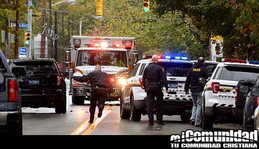 Mueren 11 personas en ataque de odio a una sinagoga en Estados Unidos
