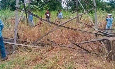 Explosión en Viche fue dirigida a torre eléctrica y no a puente.
