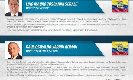 Nombran nuevos ministros de Interior y Defensa