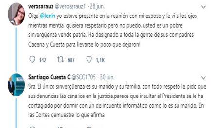La esposa de Fernando Villavicencio acusa de «vende patrias» al Presidente Lenín Moreno