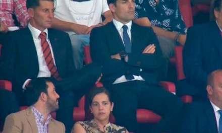 Romo y Granda fueron captados por cámaras de TV en partido Atlético de Madrid y el Getafe.