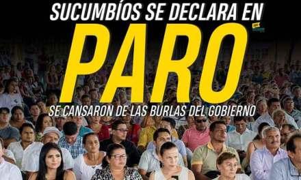 En Sucumbios declaran paro Provincial.