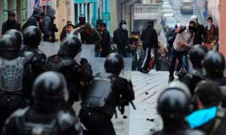 En segundo día de paro, hasta las 09h00 de este viernes, 350 personas detenidas en Ecuador