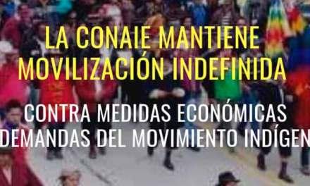 Decreto de Estado de excepción en territorio indígena: CONAIE