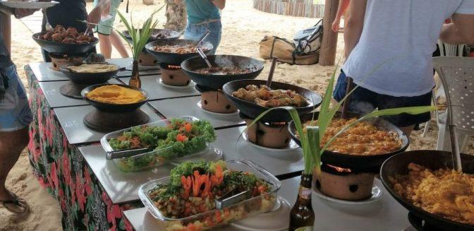 almuerzo en Itaparica