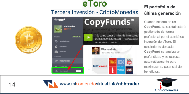 CriptoMonedas # 14 – Tercera inversión – CopyFunds