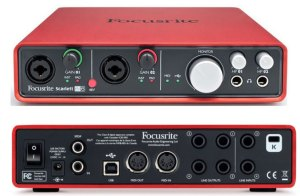 An extremely famous audio interface for recording