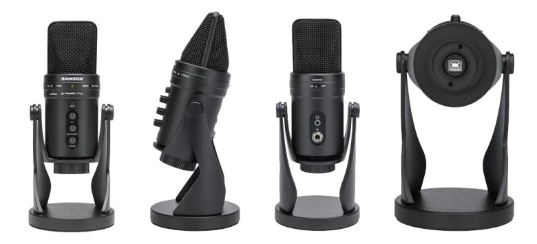 Multiple angle views of the Samson G-Track Pro USB microphone