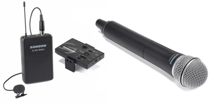 The two configurations for the Samson Go Mic Mobile