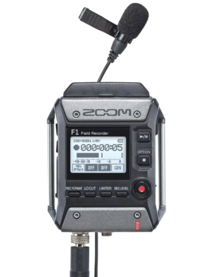 Another look at the new Zoom F1-LP recorder and lavalier
