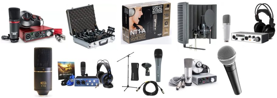 We found some top rated microphone bundles and packages to recommend