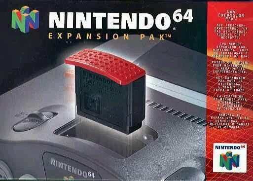 Image result for red expansion pak nintendo 64