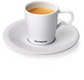 a cup of coffee and a saucer