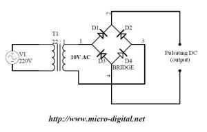 Full Wave Bridge Rectifier Supply | Micro Digital