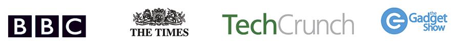 As seen in: The Times, TechChrunch, BBC, Gadget Show