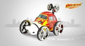 red stunt car