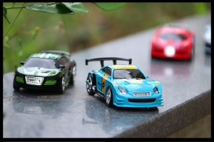 Micro App Racer on window shelf