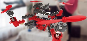 exploded view, diy drone lego style