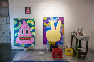 Erika Hess, art, artwork, residency, Micro Art Space, Michigan, Ohio, Cleveland, exhibition, painting, Erika B. Hess