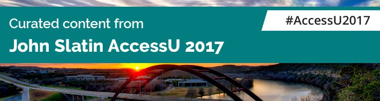Curated content from John Slatin AccessU 2017. #AccessU2017