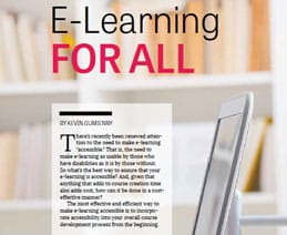 Elearning for All - screen grab from TD Magazine Article