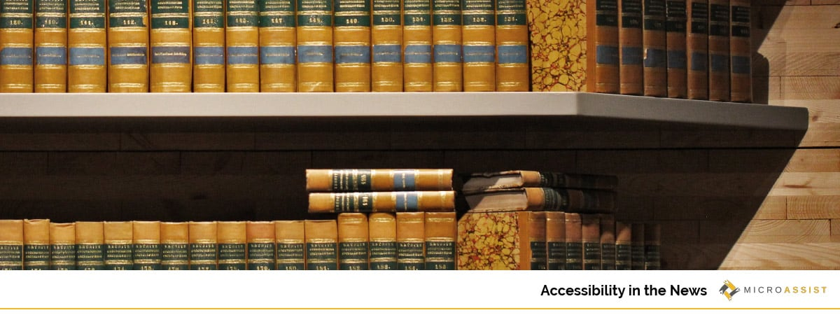 Microassist Accessibility in the News: Legal library