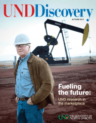 Steve Benson on cover of UND Discovery magazine