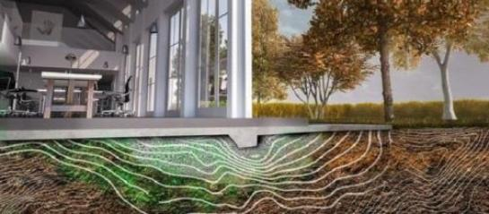 immagine computerizzata dello schema di riparazione del biocemento