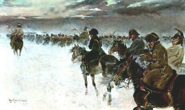Napoleone sconfitto ritirata dalla Russia