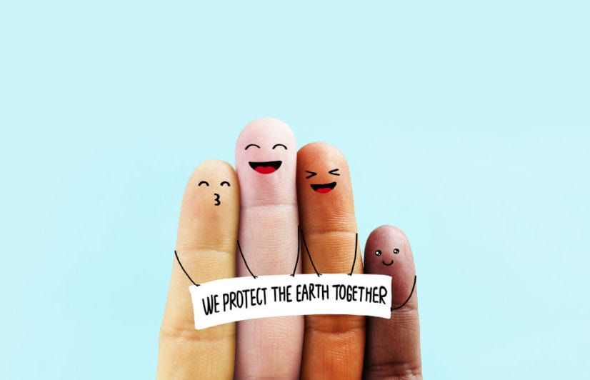 """We protect the earth together"""