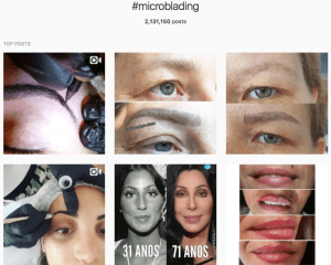 top posts with the hashtag microblading on Instagram