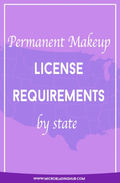 Permanent makeup license requirements by state