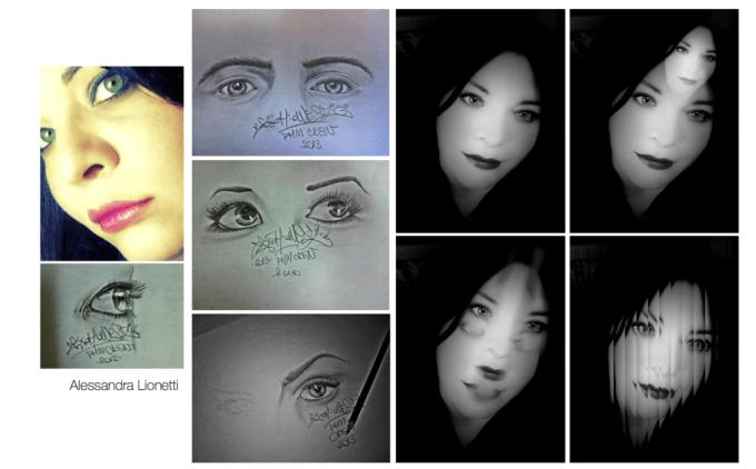 *Gli occhi...una finestra sull'anima* ..Se guardi bene dentro uno sguardo, c'è molto di più, di ciò che un occhio può vedere, c'è una storia, c'è una sensazione.Ho passato la vita, a guardare negli occhi della gente, è l'unico luogo del corpo, dove forse esiste ancora un'anima.Come il volto è l'immagine dell'anima, gli occhi ne sono gli interpreti...*CHIUDI GLI OCCHI E VEDRAI*... Alessandra Lionetti