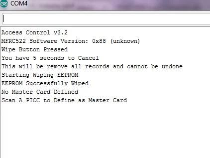 RC522 RFID kapu használata