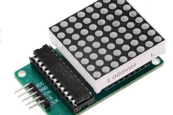 Arduino ledmátrix MAX7219-el