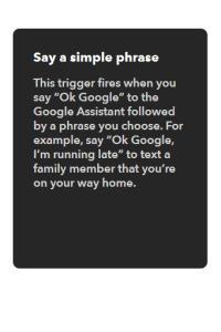 IFTTT - Simple phrase