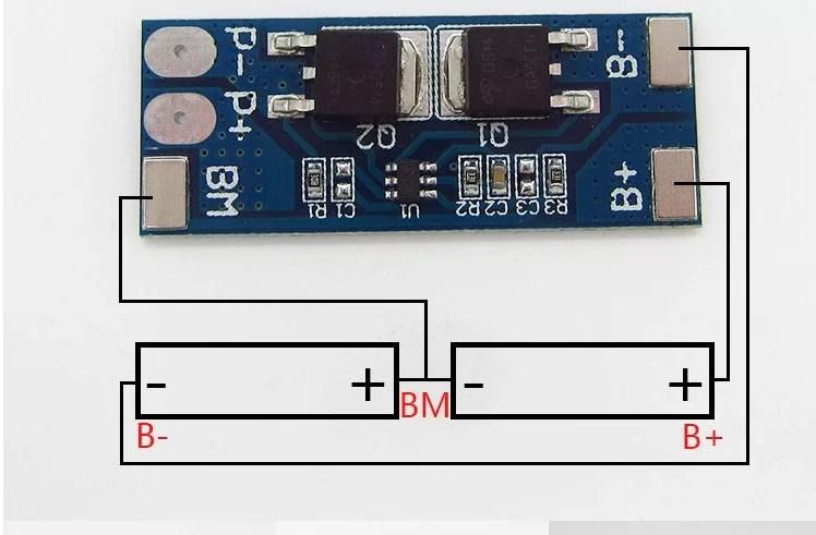 Li-ion töltésvezérlő - BMS - Kapcsolás