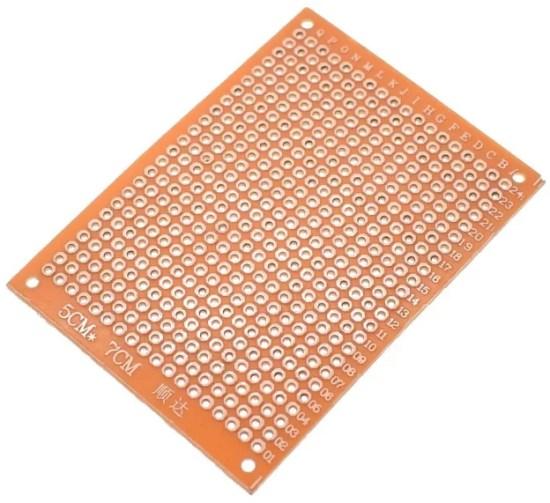 5x7 cm forraszható próbapanel