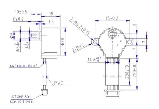 4 fázisú léptető motor