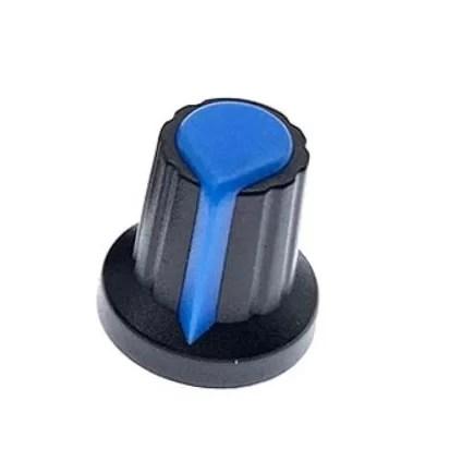 Műanyag Potméter Gomb - Kék